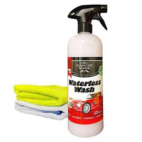 Waterless Wash and Wax Car Cleaner (1 Litre Bundled with 2